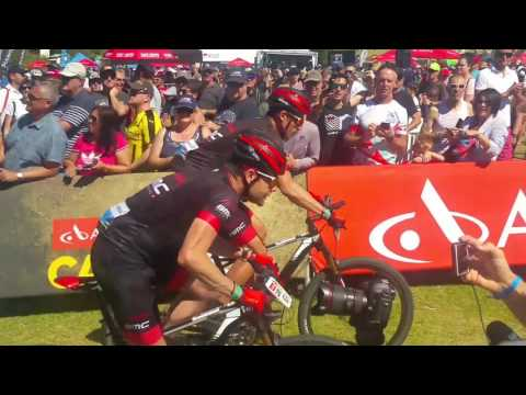Cape Epic Stage 7 Cadel Evans and George Hincapie  - overall winners of Masters Cat. 2017