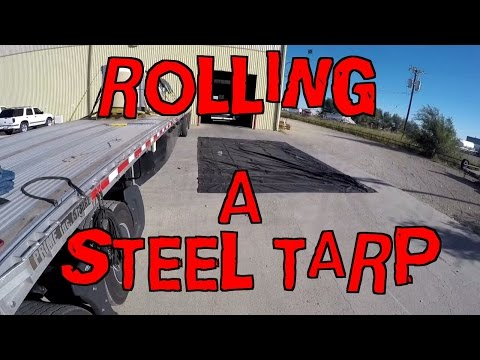 How To Fold And Roll A Steel Tarp.
