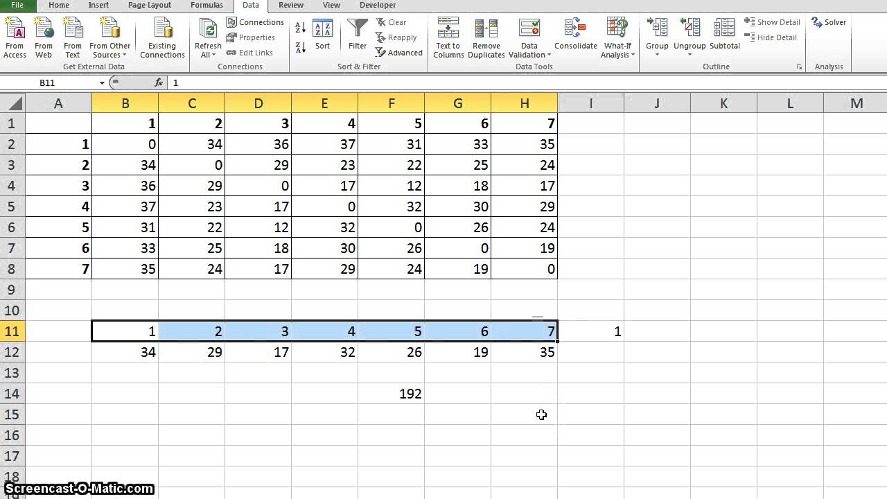 solving travelling sman problem tsp using excel solver solving travelling sman problem tsp using excel solver