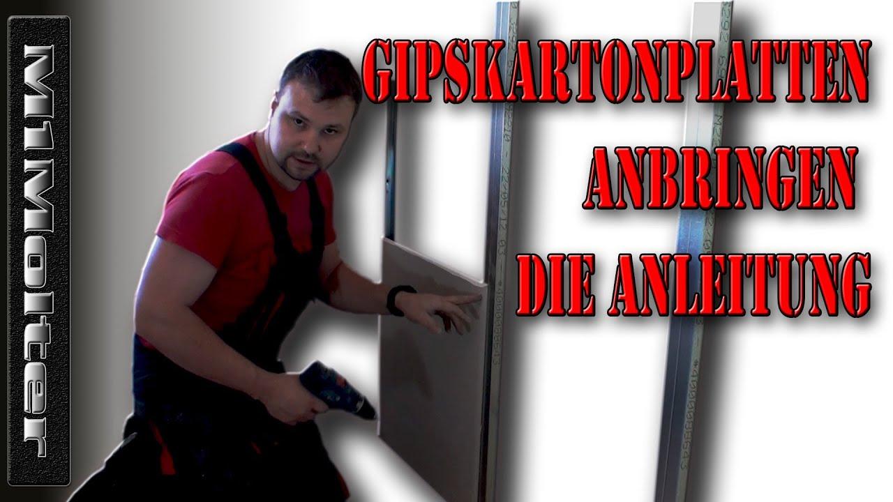 Gipskartonplatten Verlegen Anleitung gipskartonplatten verlegen - anbringen / anleitung von m1molter