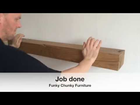 How To Fit A Floating Shelf: Offset Concealed Brackets.