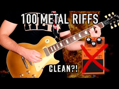 100 Metal Riffs Without Distortion!