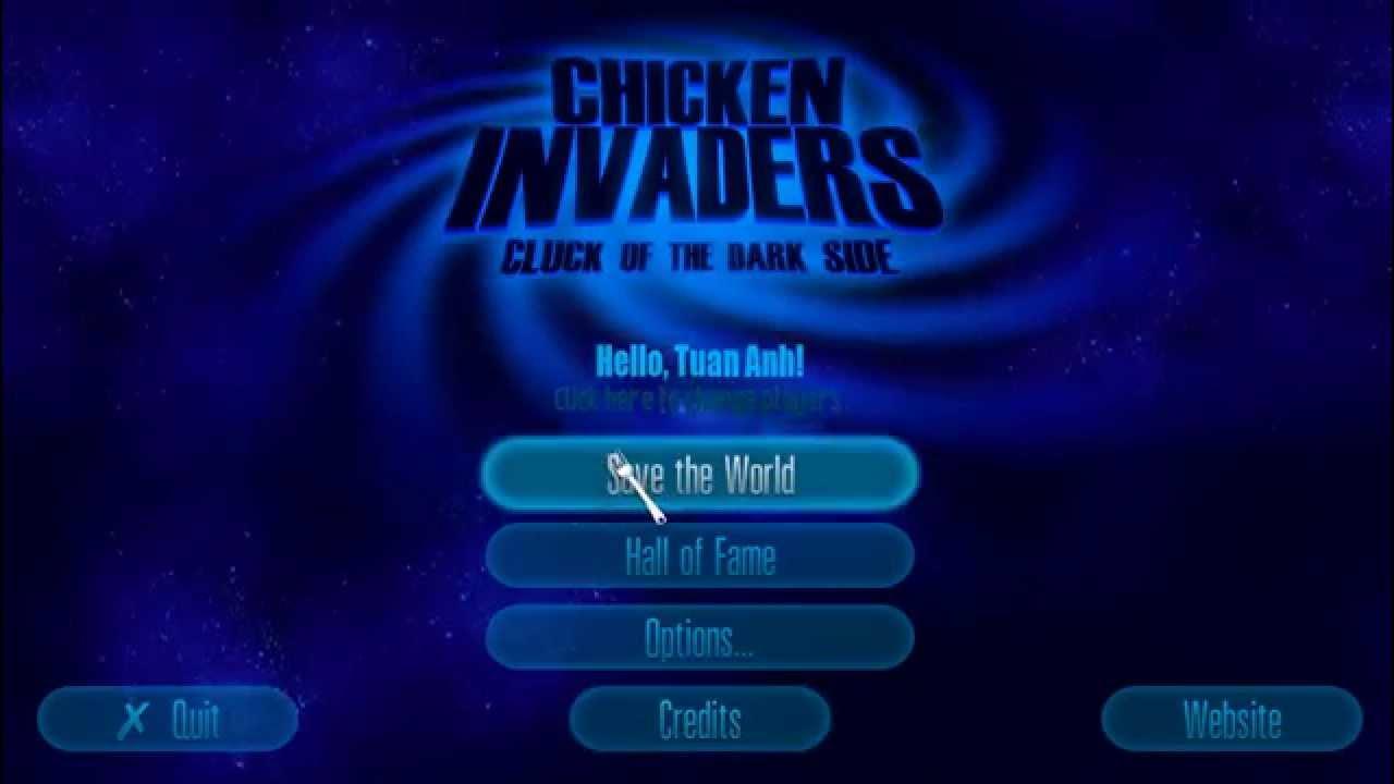 Hướng dẫn tải game Chicken invaders 5 Cluck of the Dark side bắn gà 5+Crack+Fix lỗi out màn hình pc