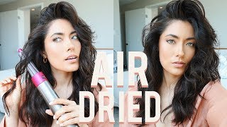 10 minute Air Dried Hair using the Dyson Airwrap | Melissa Alatorre