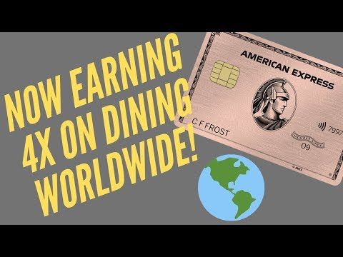 Amex Gold Card Earns 4x Dining Worldwide