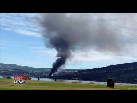 Oil train derails in Columbia River Gorge near Mosier, Oregon