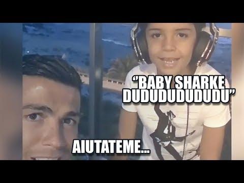 Ronaldo Junior ha la Baby Sharkite   Il remix di CR7   PARODIA