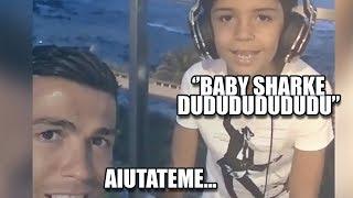 Ronaldo Junior ha la Baby Sharkite | Il remix di CR7 | PARODIA