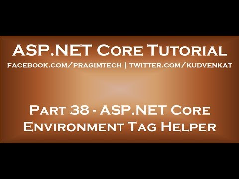 ASP NET Core Environment Tag Helper