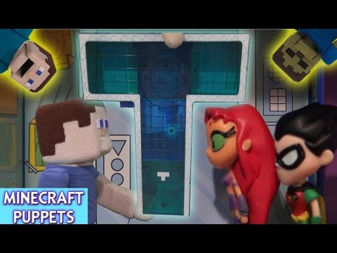 Teen Titans Go! T-Tower Playset Action Figures Unboxing Review - Puppet Steve
