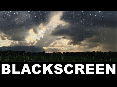 Soft Rain Sounds Black Screen Thunder Sounds Gentle Thunderstorm Relaxing Meditation ASMR