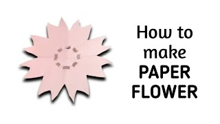How to make simple & easy paper flower - 3 | Kirigami / Paper Cutting Craft, Videos & Tutorials.