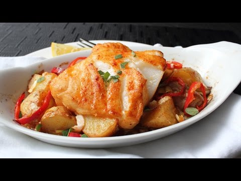 Seabass A La Michele - Roasted Bass With Warm Potato Salad Recipe