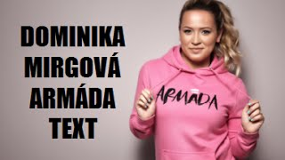 Dominika Mirgová  🎶  Armáda text