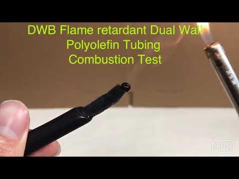 DWB高阻燃含膠熱縮套管 DWB Flame Retardant Dual Wall  Polyolefin Tubing . Combustion Test