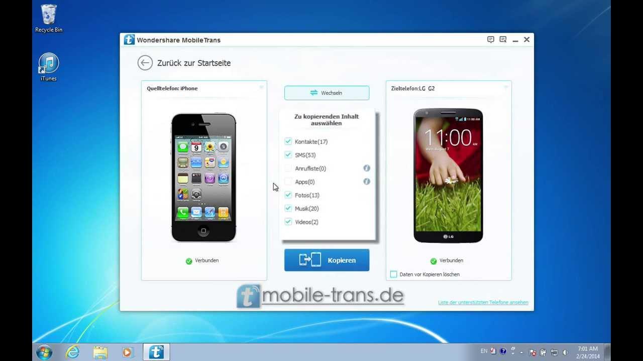 bilder und musik auf iphone übertragen