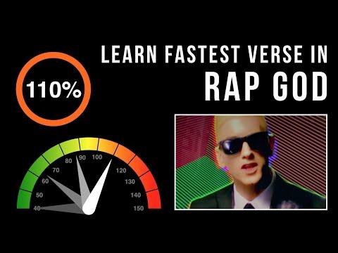 Let's Practice! Eminem's Fastest Verse In 'Rap God' (Slowed down w/ scrolling lyrics)