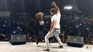 Nisha Dubey & Khesari Lal Yadav - Live Performace At Kandiwali | Othalali Se Roti Bor Ke