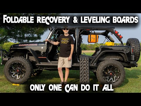 GoTreads Foldable Recovery Boards: Snow, Sand, Mud And Leveling Block All In One