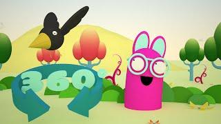 360 vr degree video for Kids - Nursery rhyme - Whoopies Wonder world - Bird