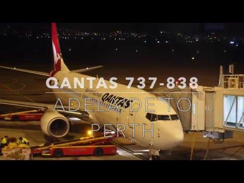 Qantas 737-838 Adelaide to Perth