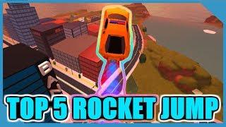 TOP 5 BEST ROCKET JUMP IN ROBLOX JAILBREAK