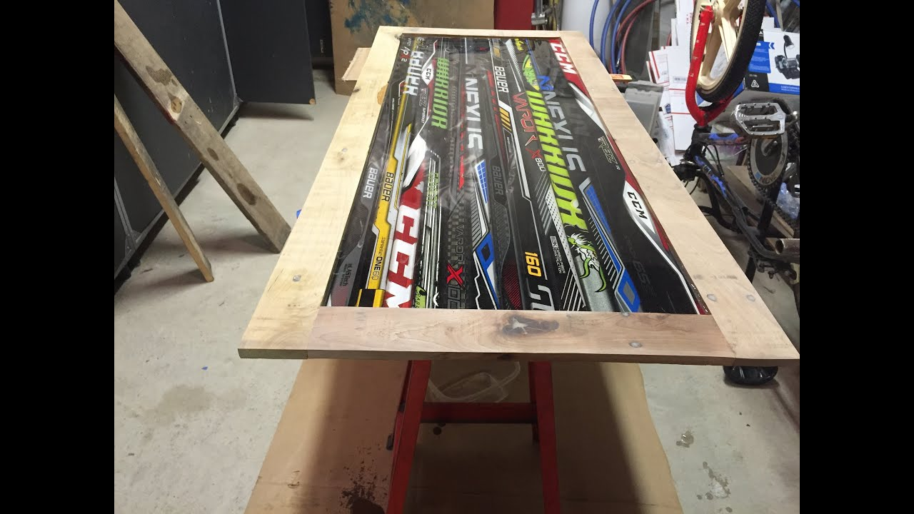 LaBelle Hockey Stick Coffee Table Part 2 - YouTube