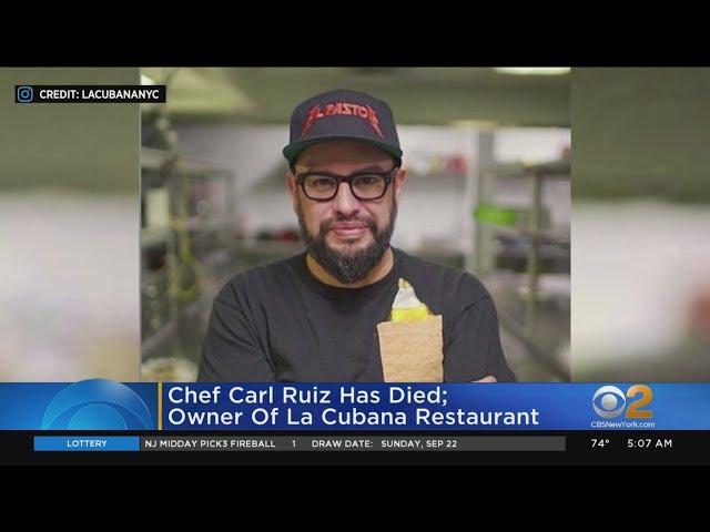 Celebrity Chef Carl Ruiz Dies