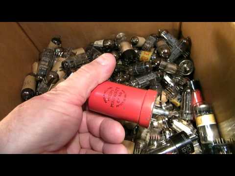 Ditching into a box with old European radio tubes
