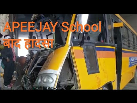 APEEJAY School Bus Accident in noida, students injured