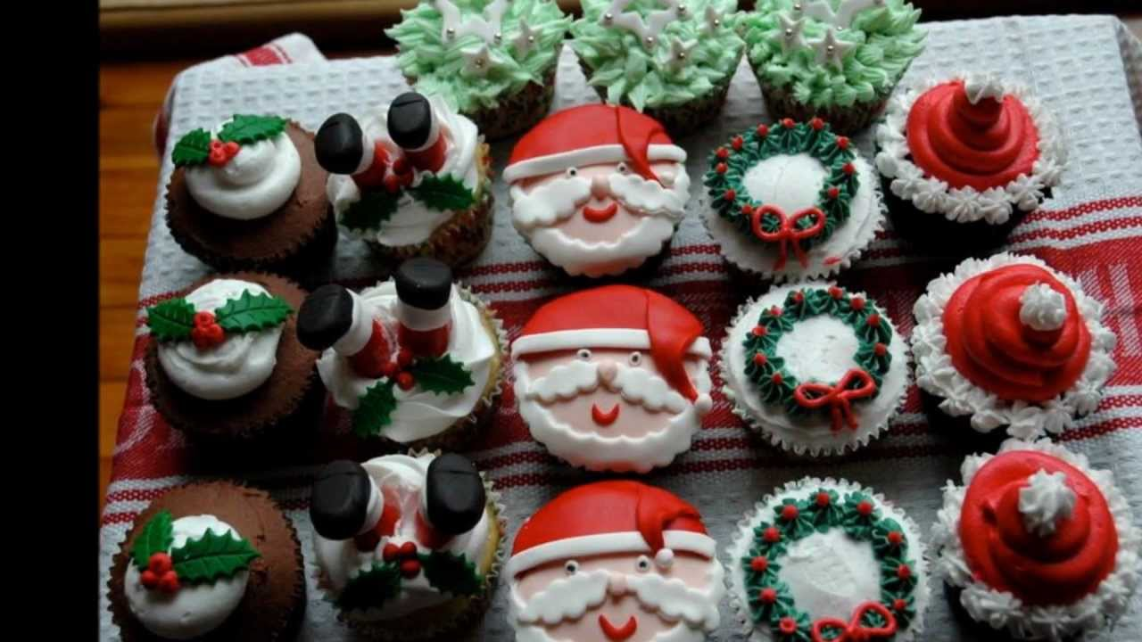Cupcake Ideas Santa Christmas Cupcake Ideas Youtube