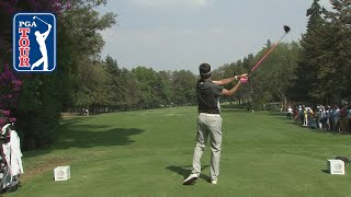 Bubba Watson's booming 372-yard drive over the trees and on the green   WGC Mexico