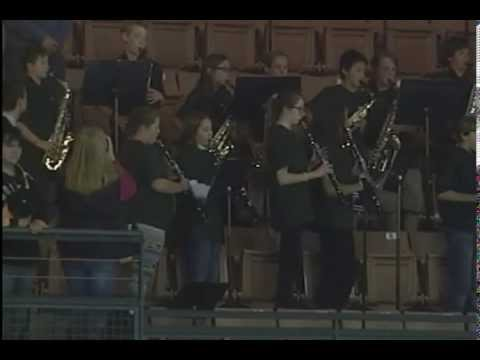 Newfound Memorial Middle School Band and Chorus - Canadian National Anthem - October 25, 2014