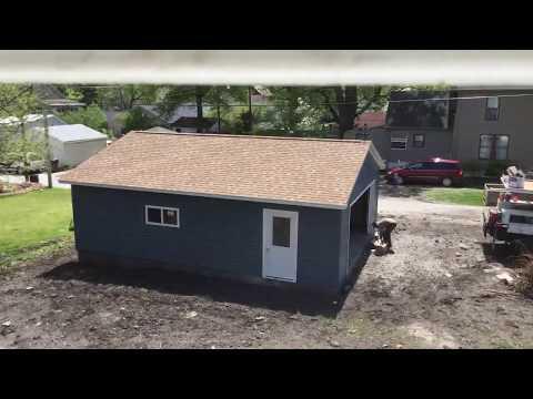 24' x 30' Coach House Garage built in Taylorville, Illinois