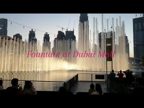 Fountain at Dubai Mall l Burj Khalifa l United Arab Emirates l New Rayyan Tv