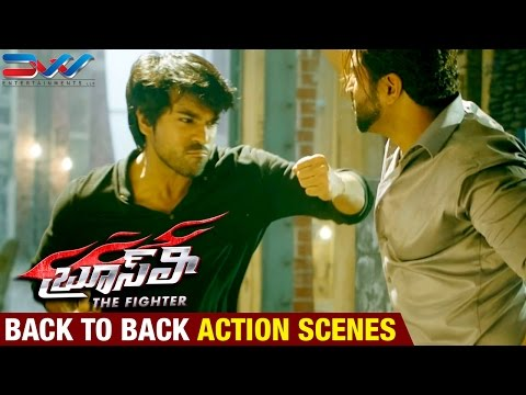 Bruce Lee The Fighter Telugu Movie | Back to Back Action Scenes | Ram Charan | Rakul Preet | DVV