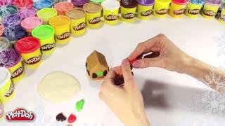 Play-Doh Russia Как слепить Пряничный домик из пластилина Play-Doh
