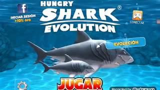 Jugando con todos los tiburones prehistóricos de hungry shark evolution (cada uno un minuto)