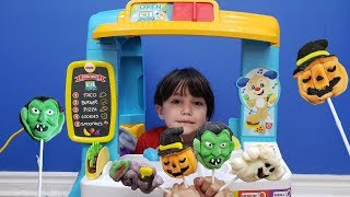 Zack Pretend Play with Food Cooking Truck and Kitchen Playset