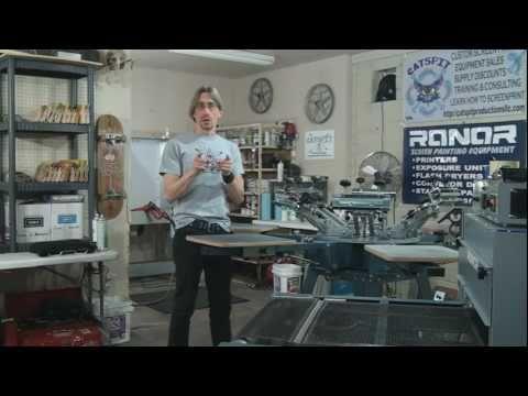 Manual Screen Printing Shop Set Up Tour