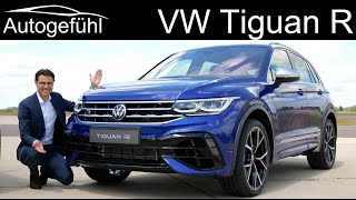 first-ever VW Tiguan R vs Tiguan R-Line Facelift 2021 2020 Exterior Interior PREVIEW