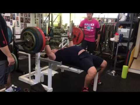 210kg Raw benchpress ベンチプレス 53yo Drug free