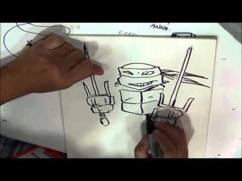Kevin Eastman drawing Raphael
