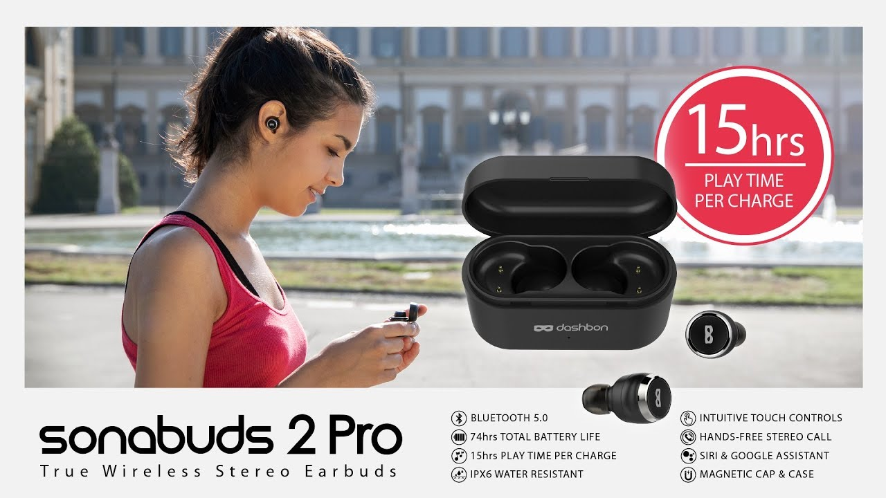 a9cc3ca293f SONABUDS 2 PRO Longest-lasting Wireless Earbuds on the Market - YouTube
