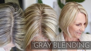 Blending Gray Hair with Highlights and Lowlights | My Partial Foiling Technique (Super easy!)