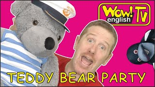 Baby Teddy Bear Tea Party Song for Kids with Steve and Maggie | Speaking Stories Wow English TV