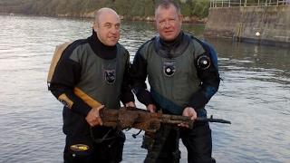 Found a - World War II - Gun In the River