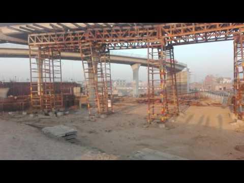 Box girder shuttering removing at Aziz cross interchange Gujranwala   Zk& Associates
