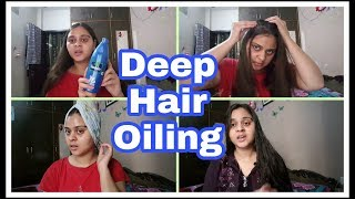 DEEP HAIR OILING TREATMENT AT HOME | SPA DAY | VIMPILICIOUS BEAUTY
