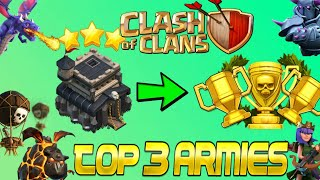 """New Best """"2018"""" Top 3 Th9 Trophy pushing war Attack Strategies- Clash of Clans"""